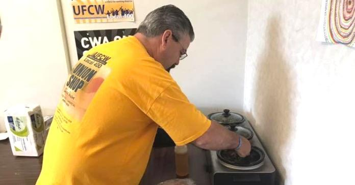 UFCW member in Virginia enjoying CWA Local 2204 sponsored breakfast.