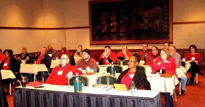 CWA District 2-13 members attend training session in WV.