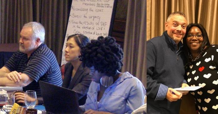 Two images from Hershey, PA Political Activist Training.