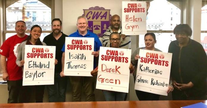 CWA Political Activists support Philadelphia candidates in PA Primary.